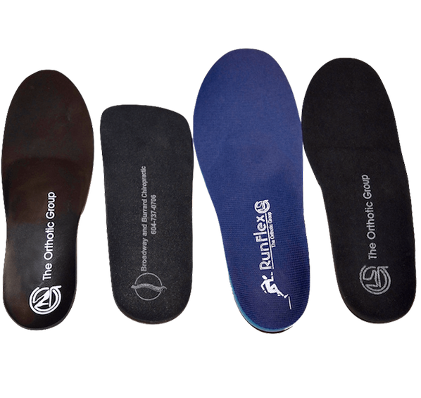 Custom made orthotics designed for optimal positioning of feet for better support, stability and power.