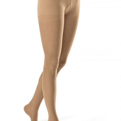 Compression hosiery creates compression gradient within the legs that influences the pressure of circulatory system and promotes better circulation.